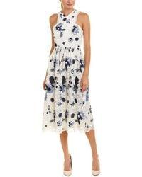 Tahari Tahari Asl A-line Dress - White