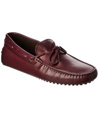Tod's Tod?s Gommini Leather Driver - Red