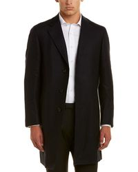 Canali - Wool Overcoat - Lyst
