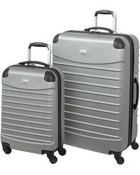 Geoffrey Beene Hardside 2pc Luggage Set - Metallic