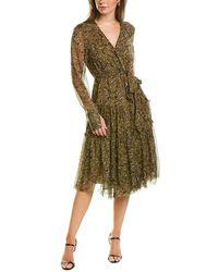 Joie Dante Silk Midi Dress - Green