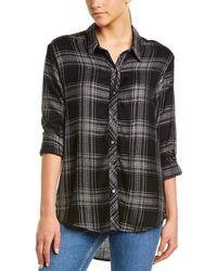 Michael Stars Boyfriend Button-down Shirt - Black