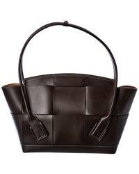 Bottega Veneta Arco Medium Leather Tote - Black