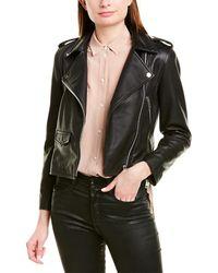 Walter Baker Liz Leather Jacket - Black
