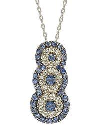 Suzy Levian Silver 0.70 Ct. Tw. Sapphire Necklace - Blue