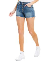 7 For All Mankind 7 For All Mankind Plom High -waist Short - Blue