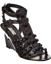 d827ca91e71 Balenciaga - Giant Gladiator Leather Wedge Sandal - Lyst