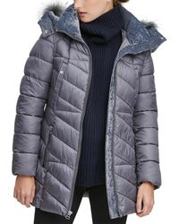 Marc New York Shirley Hooded Faux Fur Trim Parka - Multicolour