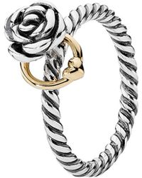 PANDORA - 14k & Silver Reminder Ring - Lyst