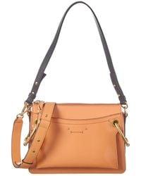 Chloé Roy Small Patent Shoulder Bag - Orange