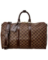 Louis Vuitton Damier Ebene Canvas Keepall 45 Bandouliere - Brown