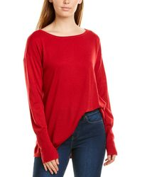 NYDJ Button Back Wool-blend Sweater - Red