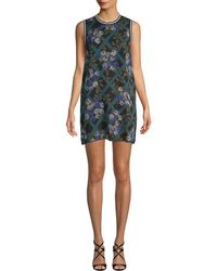 Anna Sui - Rose Trellis Silk Chiffon Dress - Lyst
