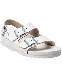 Birkenstock Milano Leather Sandal - White