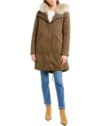 Yves Salomon Army Parka - Green