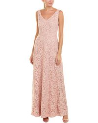 Paper Crown Lace Gown - Pink