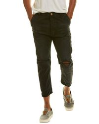 One Teaspoon Mr Browns Black Anchor Relaxed Tapered Jean