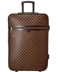 Louis Vuitton Damier Ebene Canvas Pegase 65 - Brown
