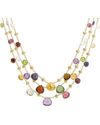 Marco Bicego Paradise 18k Gemstone Necklace - Metallic