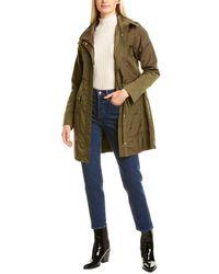 Cole Haan Medium Packable Rain Jacket - Green