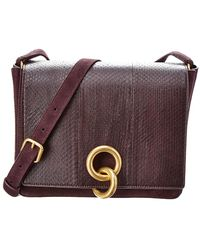 A.L.C. - Suede/snake Charlie Crossbody - Lyst