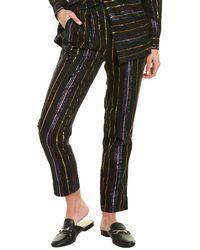 FARM Rio Lurex Stripe Pant - Black