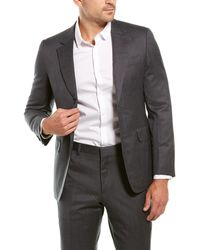 Brioni 2pc Wool Suit With Flat Pant - Grey