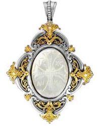 Konstantino 18k & Silver Mother-of-pearl Pendant - Metallic