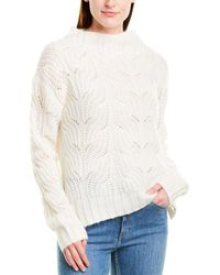 J.Crew - Pointelle Cable Knit Sweater - Lyst