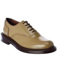 Ferragamo Leather Oxford - Green