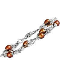 Charriol Stainless Steel Pearl Bracelet - Metallic