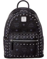 MCM - Stark Mini Outline Studded Visetos Backpack - Lyst