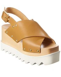 Stella McCartney Elyse Platform Sandal - Brown
