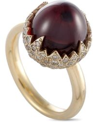 Pomellato 18k 0.59 Ct. Tw. Diamond & Garnet Ring - Metallic