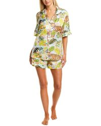 Karen Mabon 2pc Pyjama Shirt & Short Set - Green