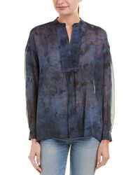 Vince - Shirred Silk Blouse - Lyst