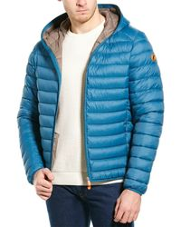 Save The Duck Basic Hooded Jacket - Blue