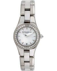Baume & Mercier Baume & Mercier Women's Linea Dress Style Diamond Watch, Circa 2000s - Metallic