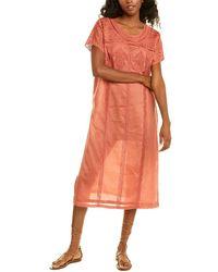 Ranna Gill Crewneck Tunic - Orange