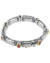 Konstantino Colour Classic 18k & Silver 7mm Pearl Bracelet - Metallic