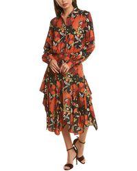 Dodo Bar Or Natasha Midi Dress - Orange