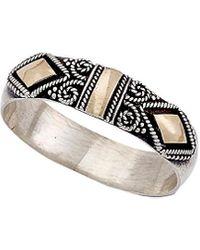 Samuel B. Jewelry Silver & 18k Thai Ring - Metallic