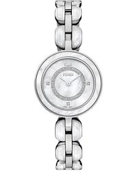 Bulova Women's Quartz Analog Crystal Bracelet Watch Set, 32mm - Metallic