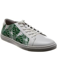 Kenneth Cole New York Kam Leaf Leather Trainer - Multicolour
