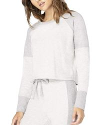 Beyond Yoga All The Feels Cropped Pullover - White