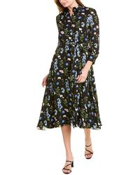 Carolina Herrera Silk Shirtdress - Black