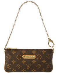 Louis Vuitton Monogram Canvas Pochette Milla Mm - Multicolour