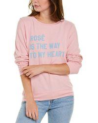 Wildfox Bbj Graphic Sweater - Pink