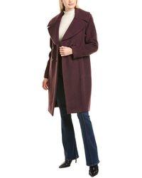 Elie Tahari Athena Wool & Mohair-blend Coat - Purple