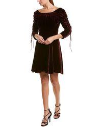 The Kooples Bliss Velvet Silk-blend Mini Dress - Black
